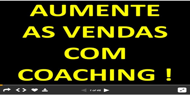 "Vendas – Palestra ""Aumente as Vendas com Coaching"""