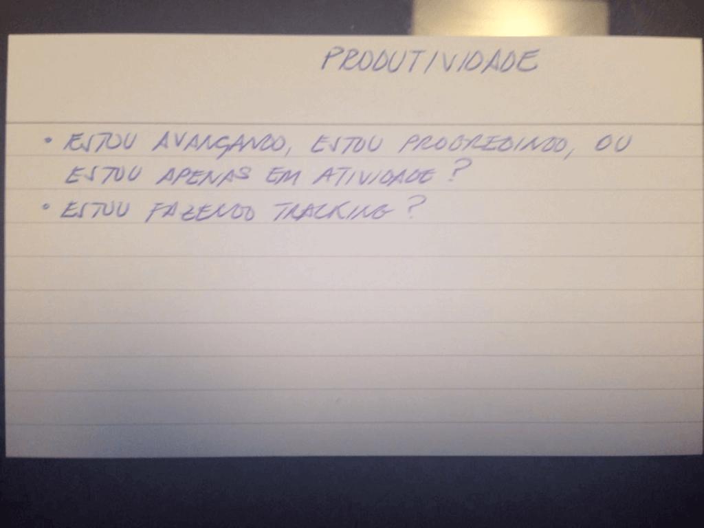 Produtividade em Vendas - Ficha de Gestão do Pensamento